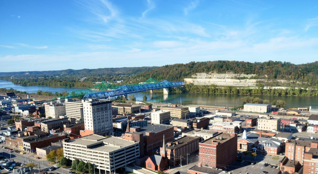 Ashland, Kentucky, where Braidy Industries is opening a $1.6-billion aluminum-rolling mill in 2020.